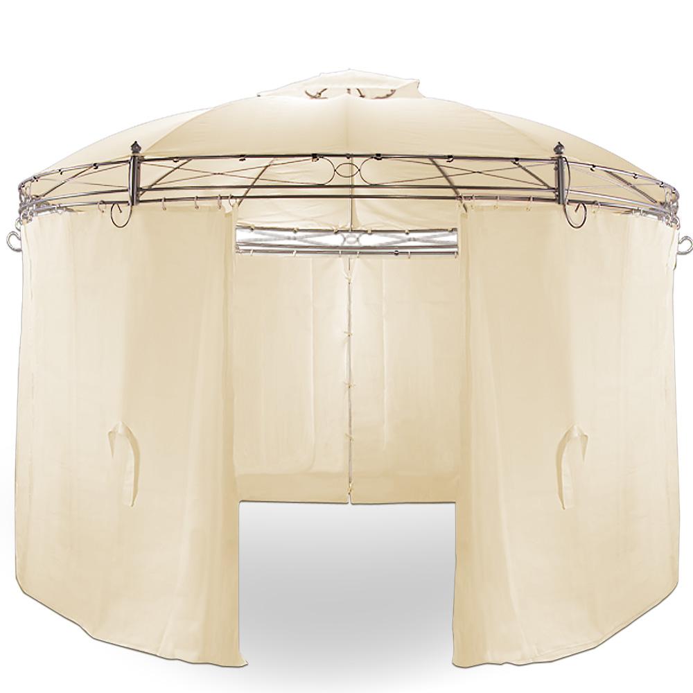 pavillon toscana beige rund gartenpavillon pavillion. Black Bedroom Furniture Sets. Home Design Ideas