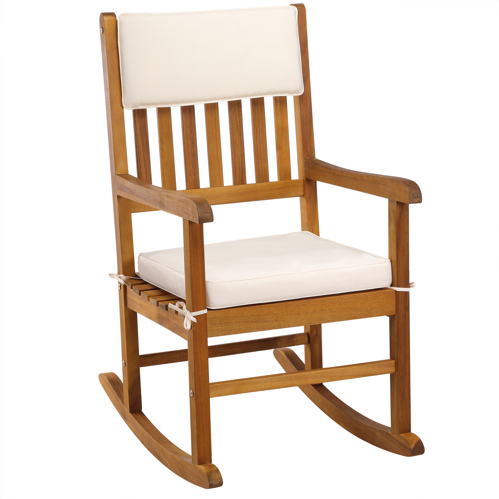 Wooden Rocking Chair Traditional Nursing Armchair Hardwood