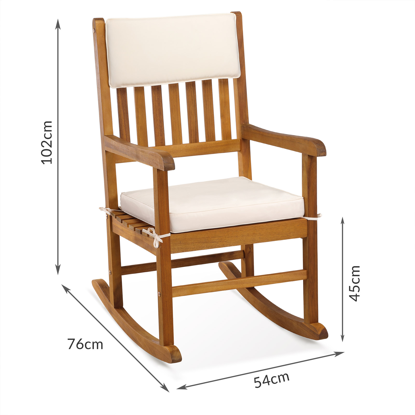 Patio rocking chair wooden reading chair balcony garden for Terrace chairs