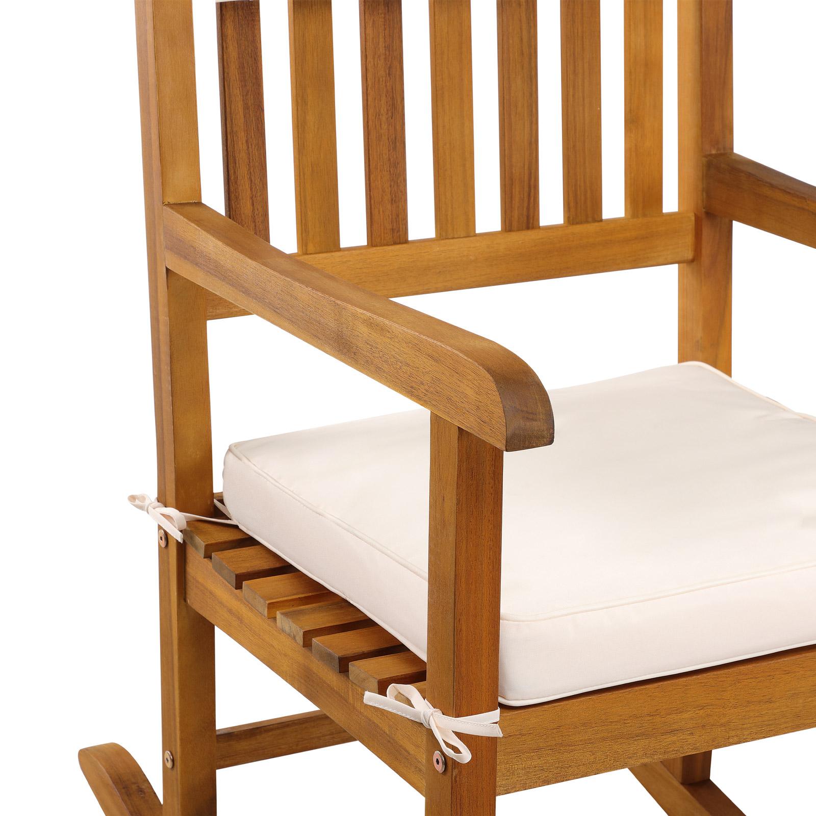 Schaukelstuhl gartenstuhl schwingsessel liegestuhl for Schaukelstuhl aus akazienholz