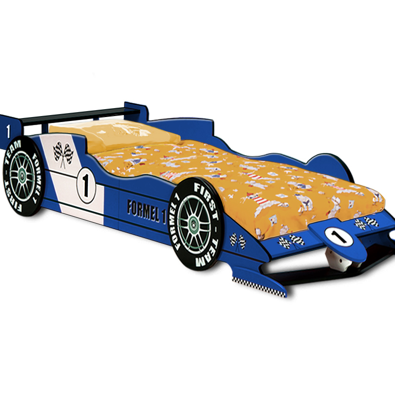 Child Car Bed Kids Single Junior Bed Slats Racing Child