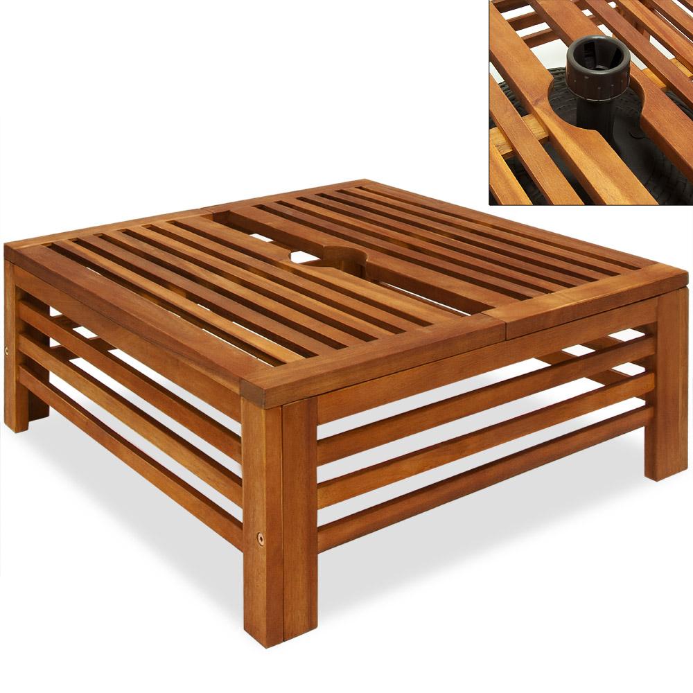 pied socle de parasol habillage cache pied parasol fixation bois dur 58x23cm ebay. Black Bedroom Furniture Sets. Home Design Ideas