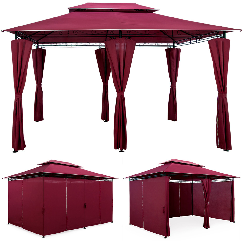 pavillon topas 4x3 gartenzelt pavilion zelt gartenpavillon. Black Bedroom Furniture Sets. Home Design Ideas