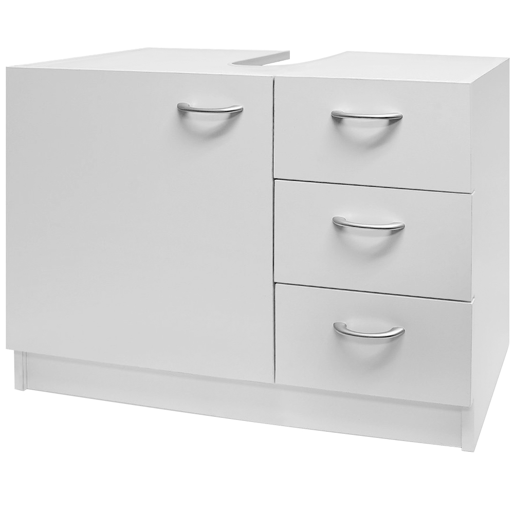 Under sink basin cabinet bathroom furniture storage unit for Bathroom wash basin with cabinet