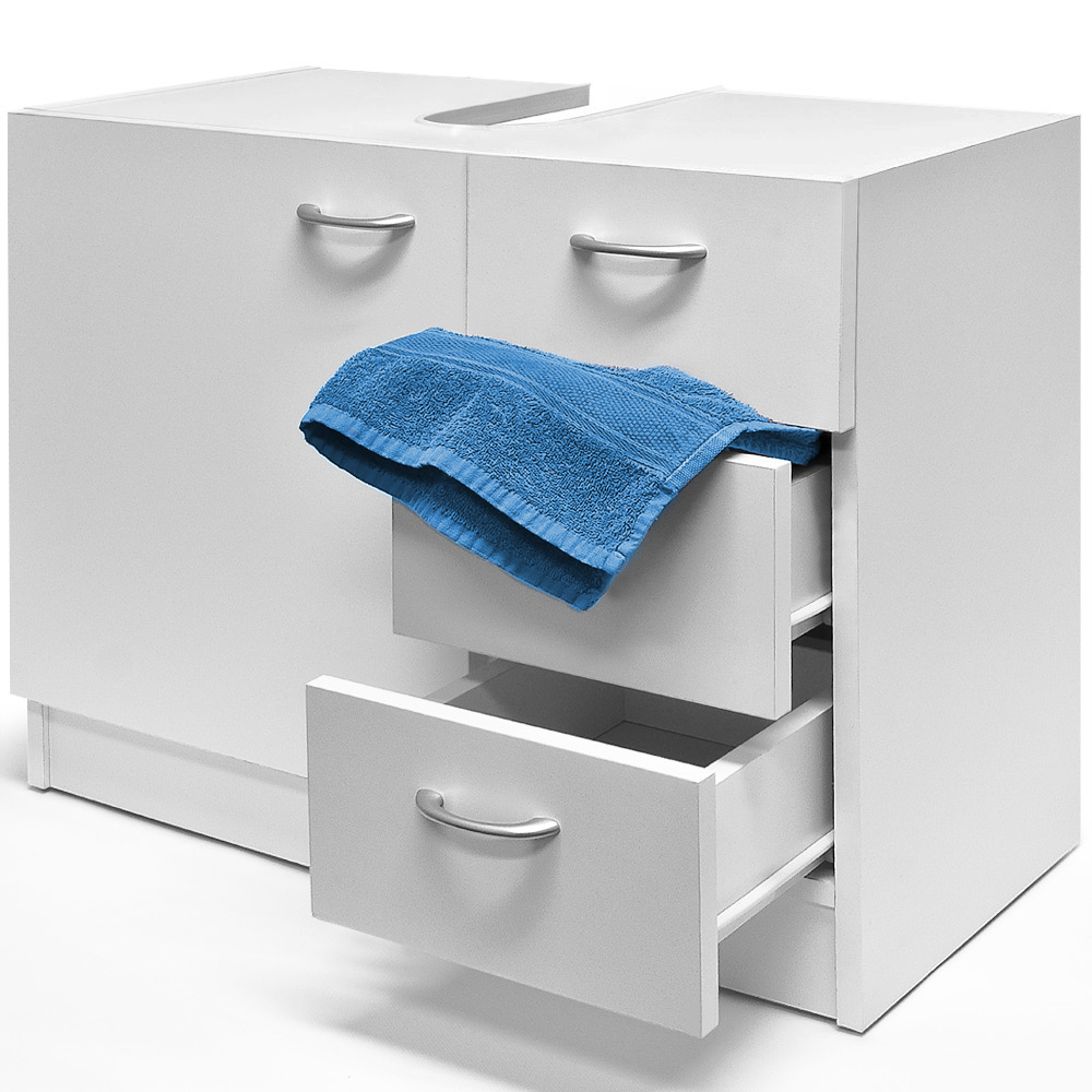 Storage under sink bathroom cabinet unit white cupboard - Under sink bathroom storage cabinet ...