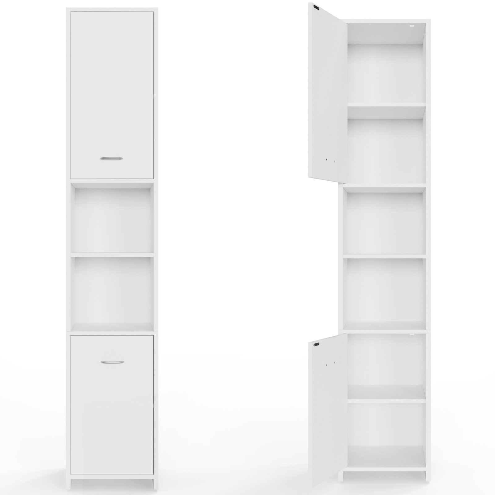 bathroom cabinet white cupboard tall shelves shelf xl