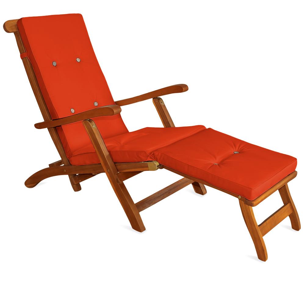 luxus auflage gartenliege sonnenliege liegestuhl liege polster auflagen kissen ebay. Black Bedroom Furniture Sets. Home Design Ideas