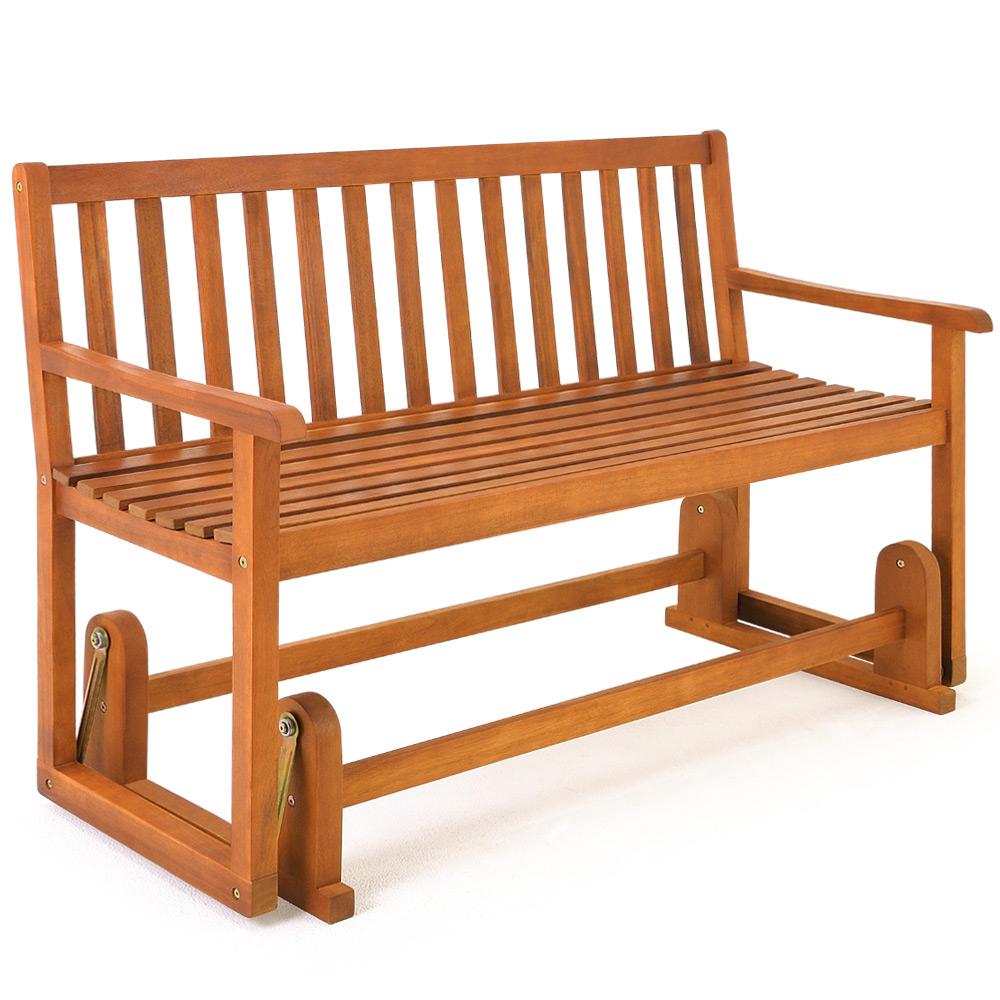 Wooden Garden Swing Bench Seater Outdoor Swinging Rocking Benches Hardwood 125cm Ebay