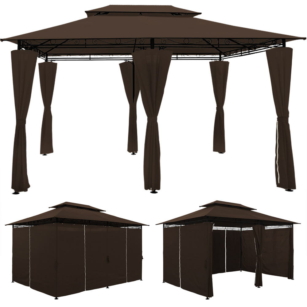 pavillon topas 4x3 pavillion gartenzelt pavilon zelt gartenpavillon gartenlaube ebay. Black Bedroom Furniture Sets. Home Design Ideas