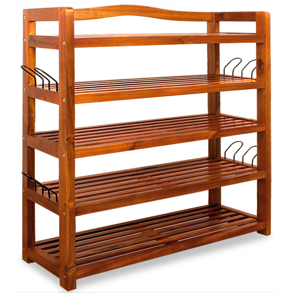 schuhregal holzregal schuhschrank schuhst nder kolonialstil holz akazie schuh ebay. Black Bedroom Furniture Sets. Home Design Ideas