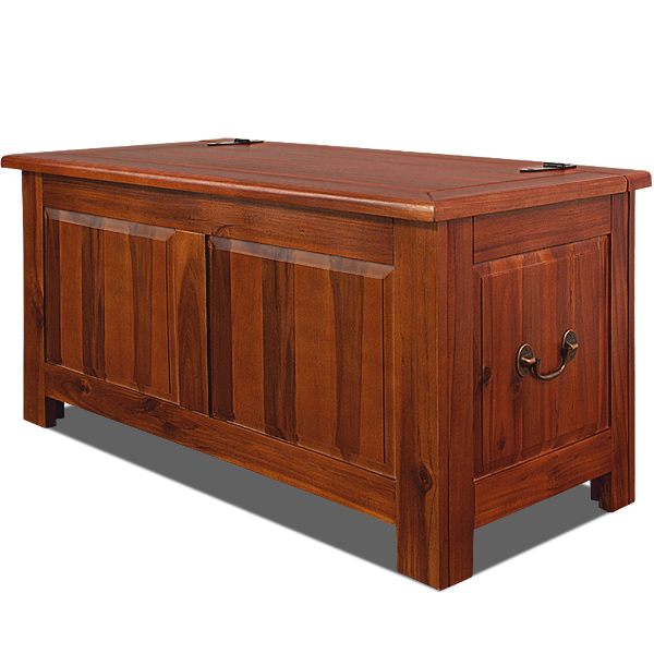 Wooden Trunk Storage Chest Antique Blanket Toy Box Furniture Hardwood 85x44x48cm Ebay