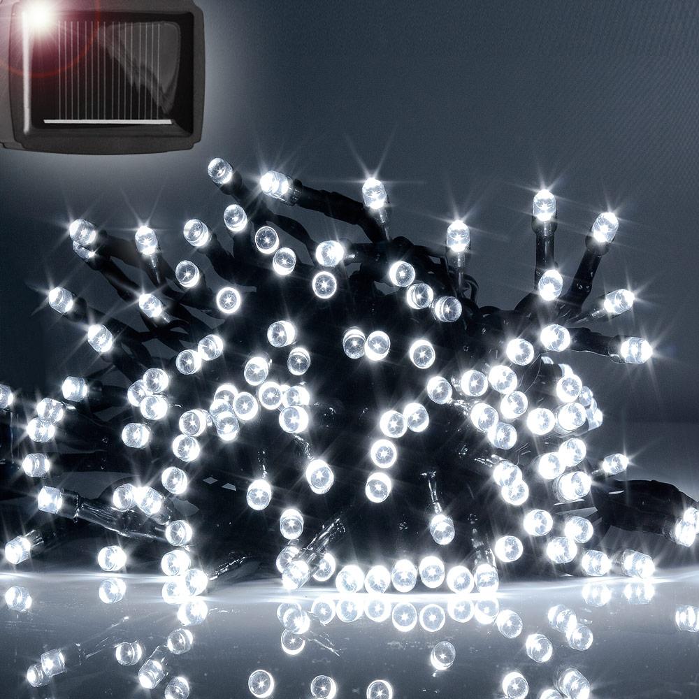 guirlande solaire led lectrique guirlande ext rieur lumineuse 18 m blanche ebay. Black Bedroom Furniture Sets. Home Design Ideas