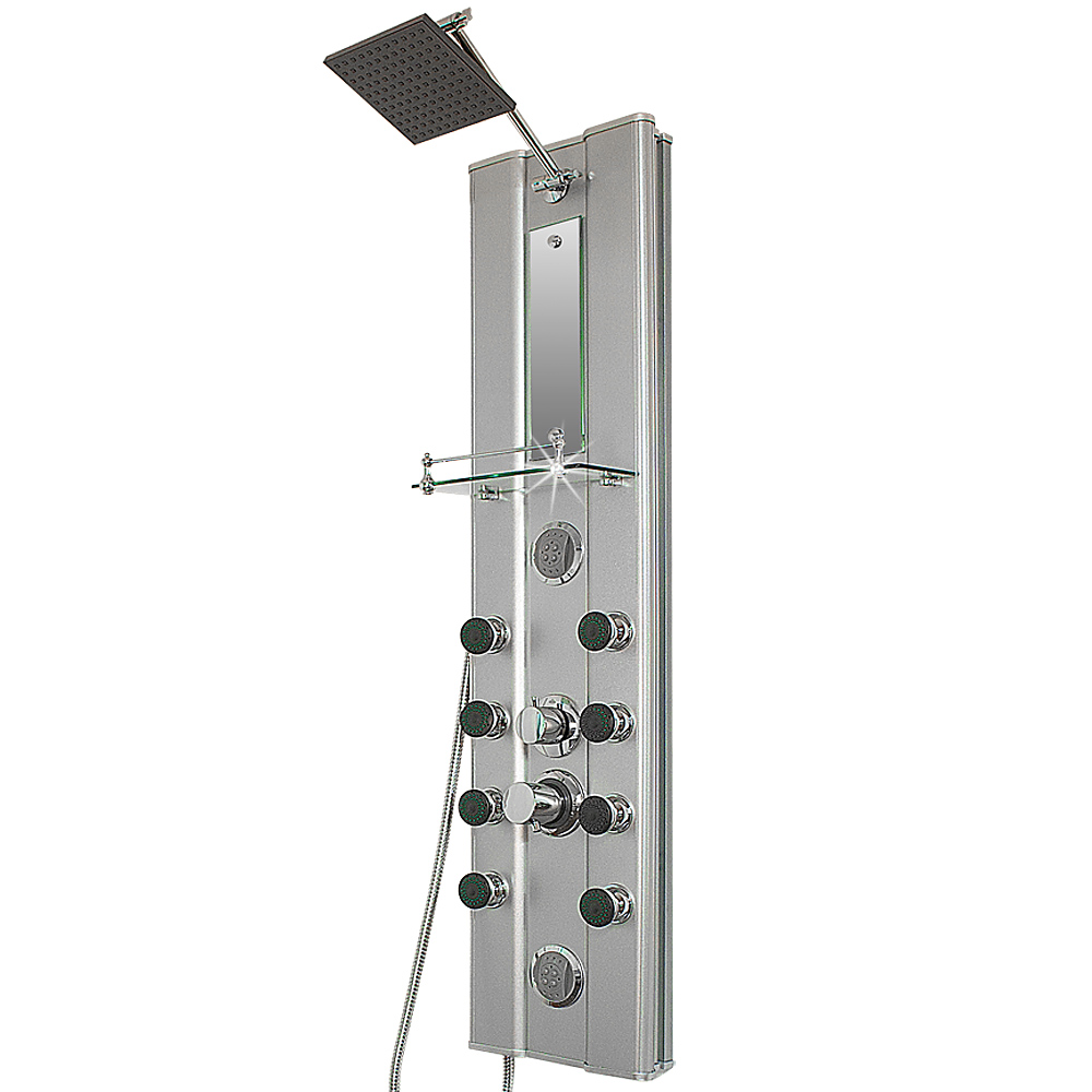Bathroom shower tower panel column with body jets for Shower tower with body jets