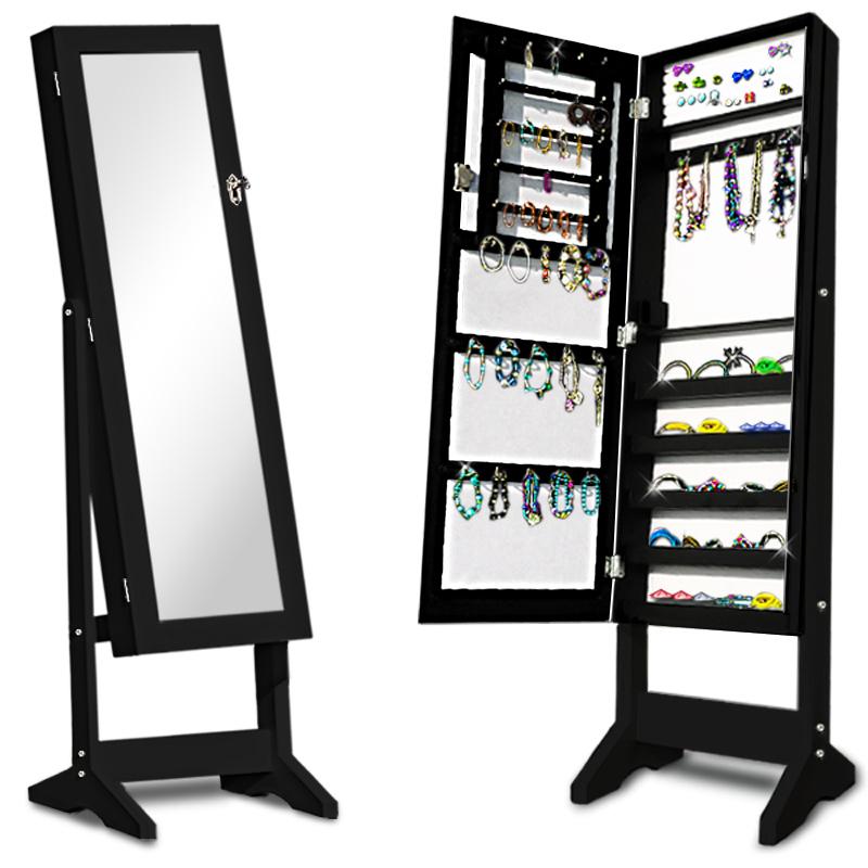 Schmuckschrank spiegelschrank schmuckkasten standspiegel - Spiegel mit kette ...