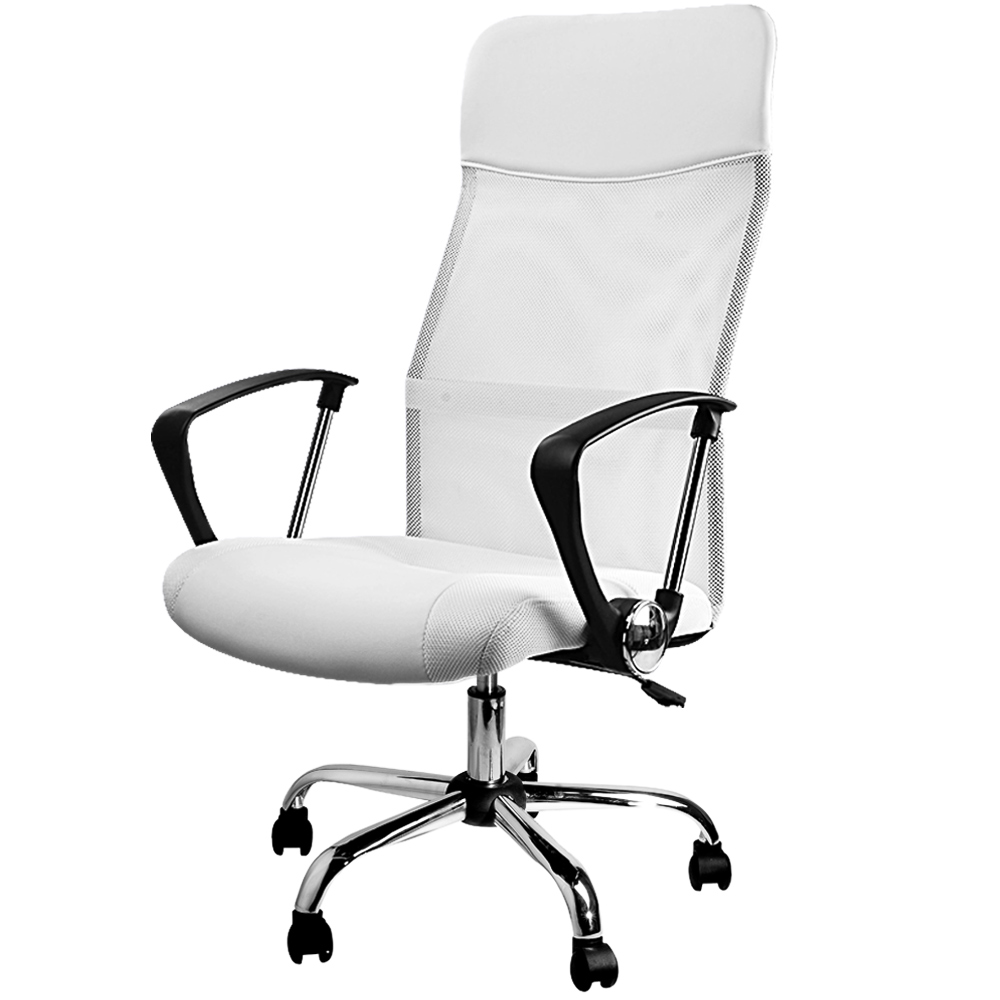 chaise fauteuil de bureau blanche inclinable ergonomique design moderne ebay. Black Bedroom Furniture Sets. Home Design Ideas