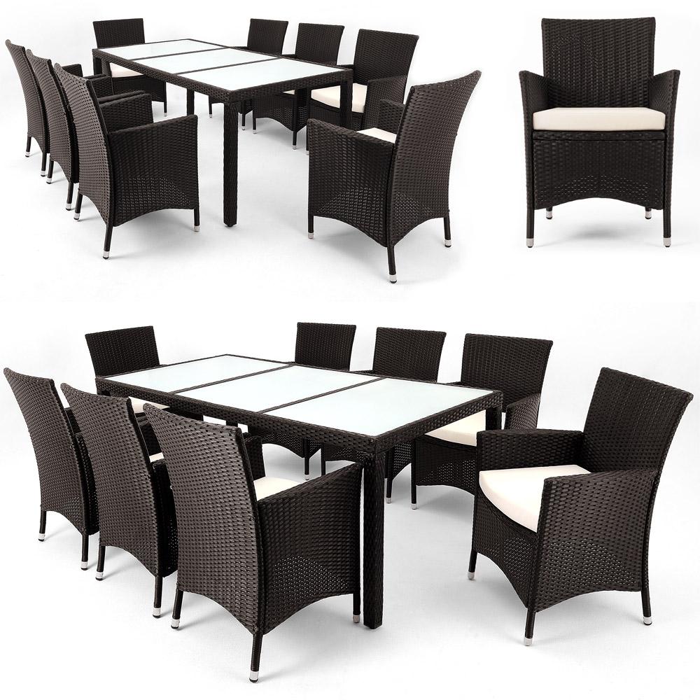 Sitzgruppe Lounge Rattan Garten Möbel Gartengarnitur ...
