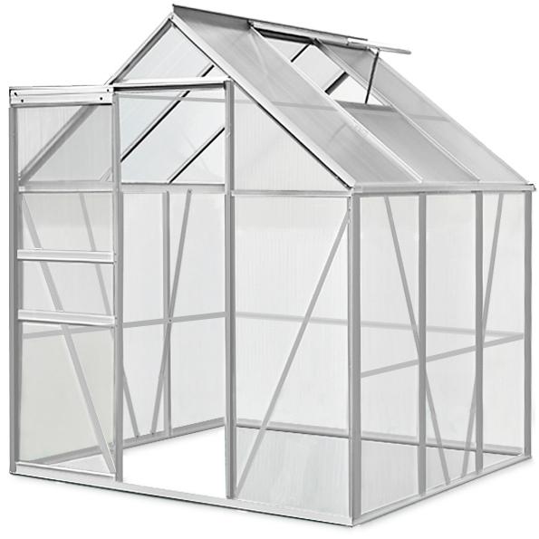 ALU-Gewaechshaus-Treibhaus-Fruehbeet-Tomatenhaus-Gartenhaus-Garten-Pflanzen-Haus
