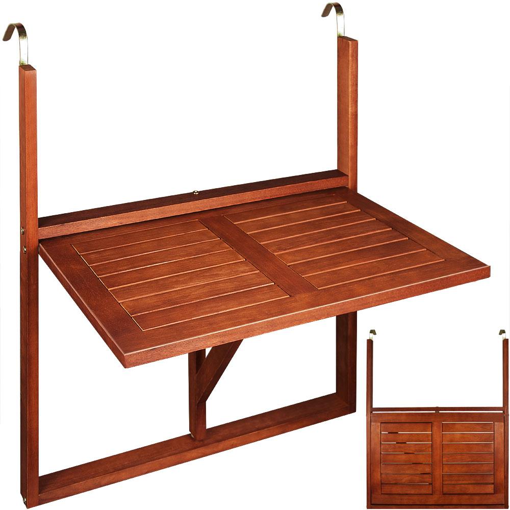 balkontisch h ngetisch akazie balkonh ngetisch tisch klapptisch klappbar holz ebay. Black Bedroom Furniture Sets. Home Design Ideas