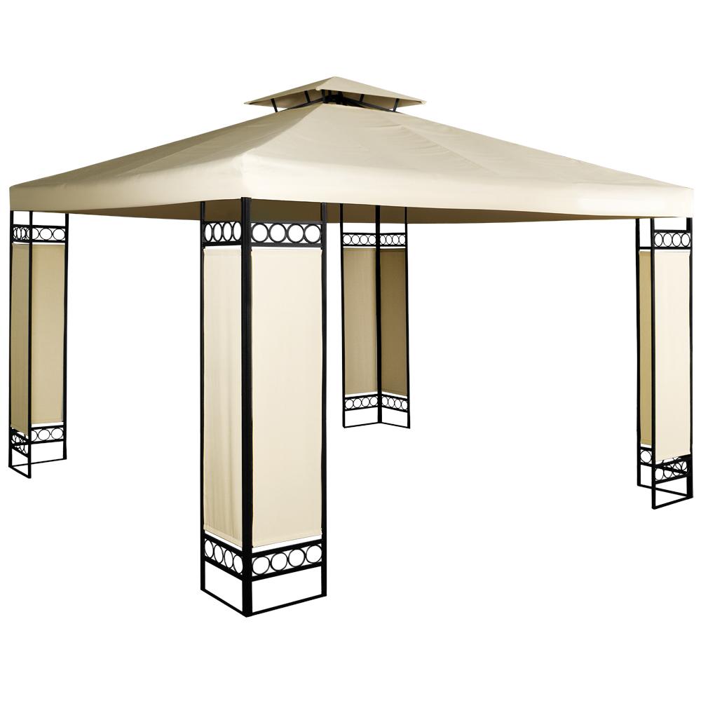 pavillon lorca 3x3 garten partyzelt festzelt gartenm bel bierzelt garten zelt ebay. Black Bedroom Furniture Sets. Home Design Ideas