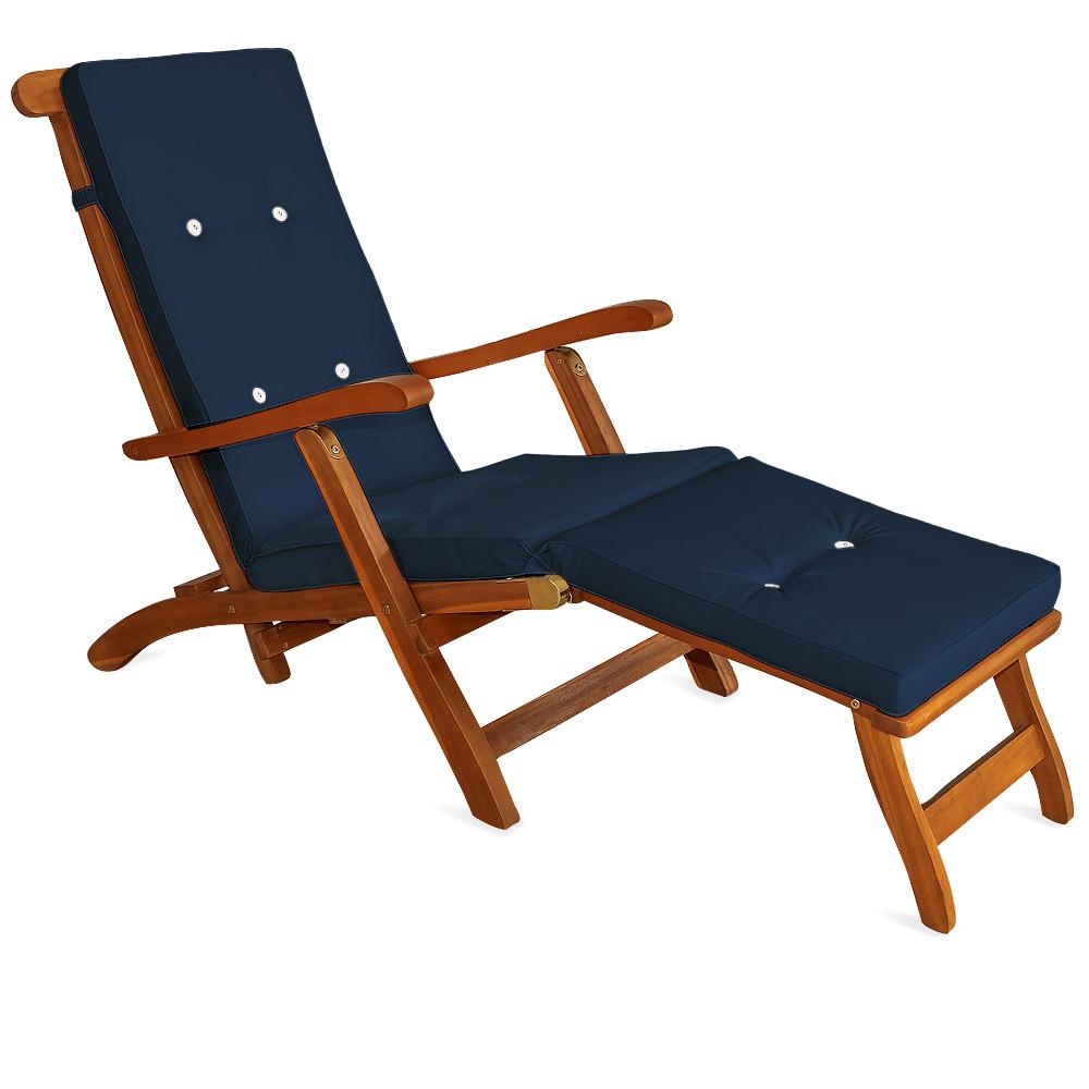 Exigences sont coussin coussin chaise longue deckchair - Chaise longue transat ...