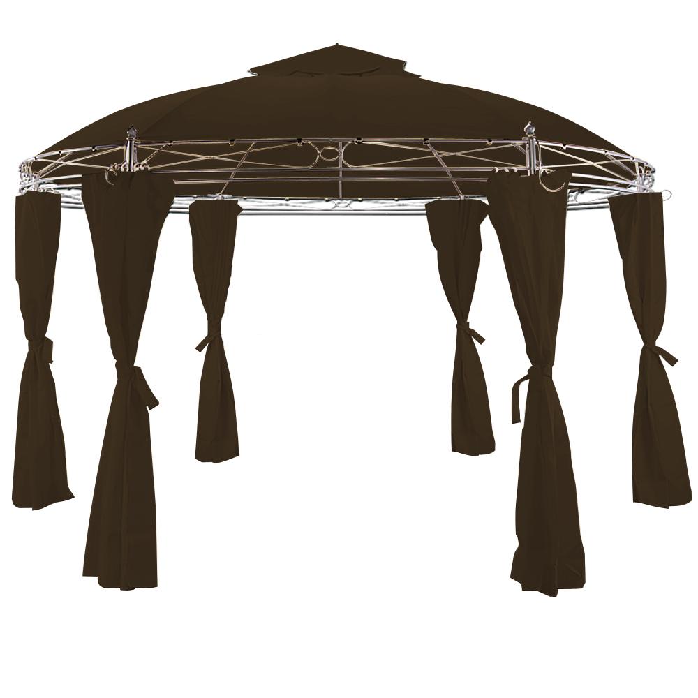 Pavillon Zelt Rund : Pavillon toscana cm rund gartenlaube partyzelt bierzelt