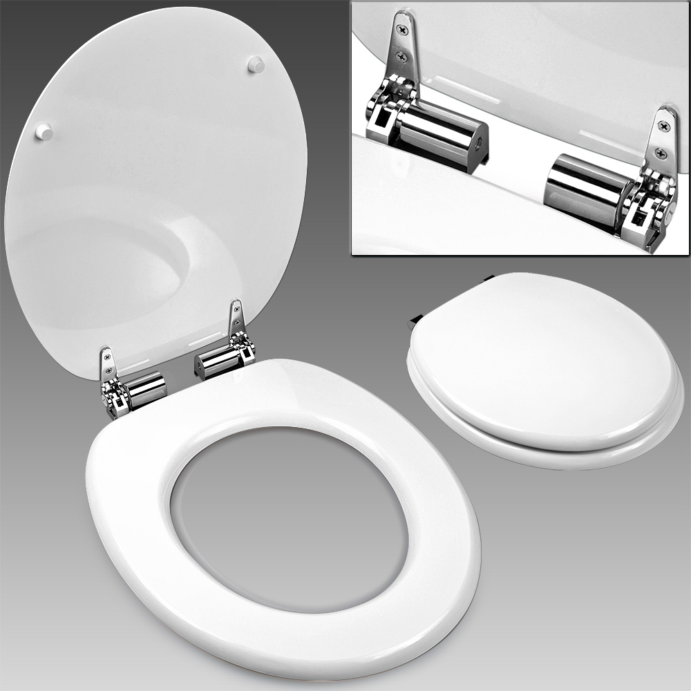 Toilet Seat Slow Close Toilet Seat Bathroom Accessories Adult WC Lid White Bl