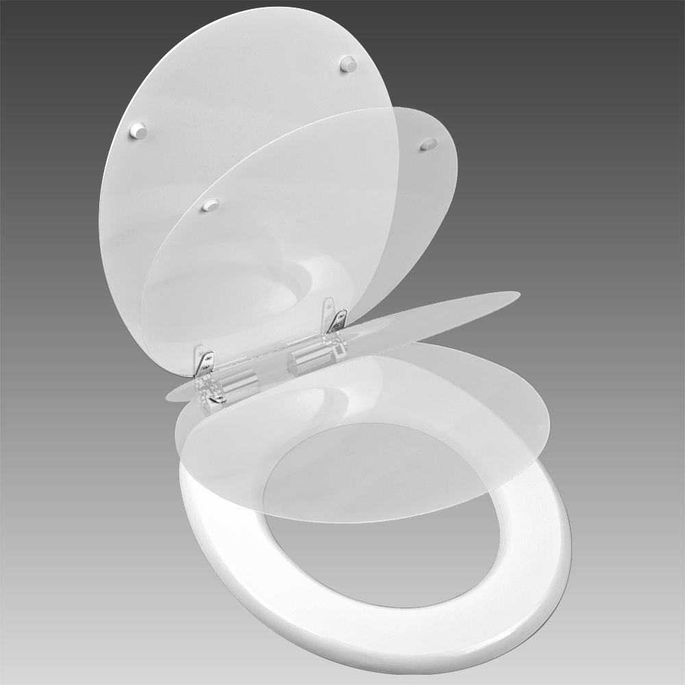 Toilet Seat Slow Close Toilet Seat Bathroom Accessories Adult Wc Lid White