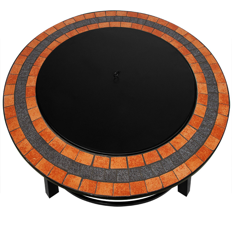 feuerschale feuerkorb mosaik terrassenfeuer grill gartenfeuer feuerstelle 90cm ebay. Black Bedroom Furniture Sets. Home Design Ideas