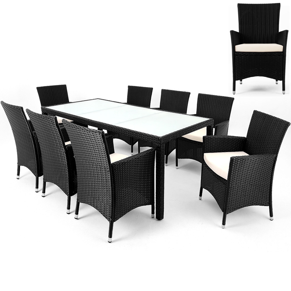 Rattan-Sitzgruppe-Gartengarnitur-Sitzgarnitur-Lounge-Gartentisch-Gartenset-Stuhl