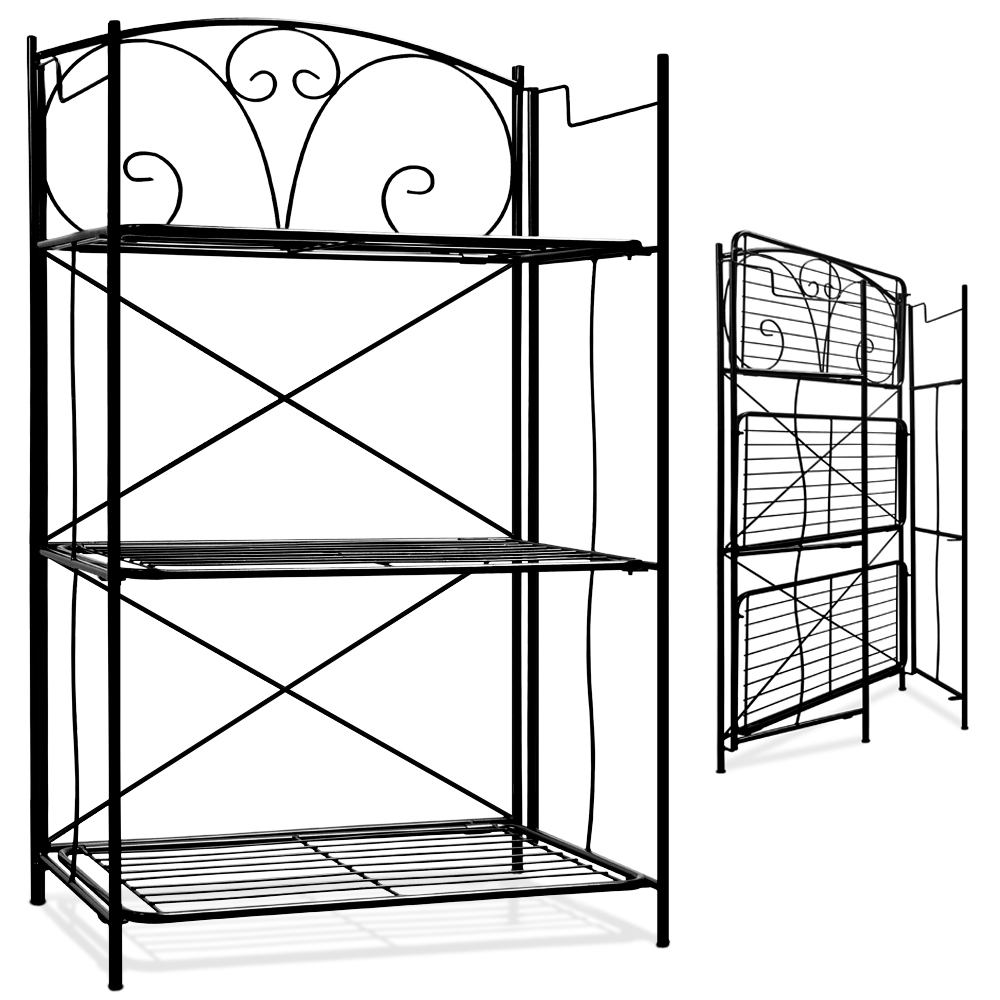 Metal Wall Shelf Free Standing Bookcase Storage Shelving
