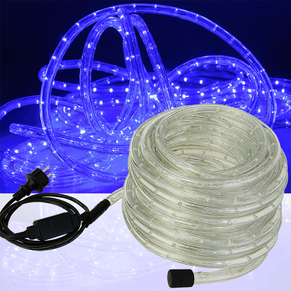 LED rope light white blue fairy string outdoor lighting 5m 10m 25m