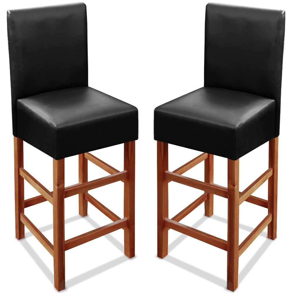 Wooden kitchen breakfast bar stool back hardwood 2x dining  : ade101472g from ebay.co.uk size 1000 x 1000 jpeg 204kB