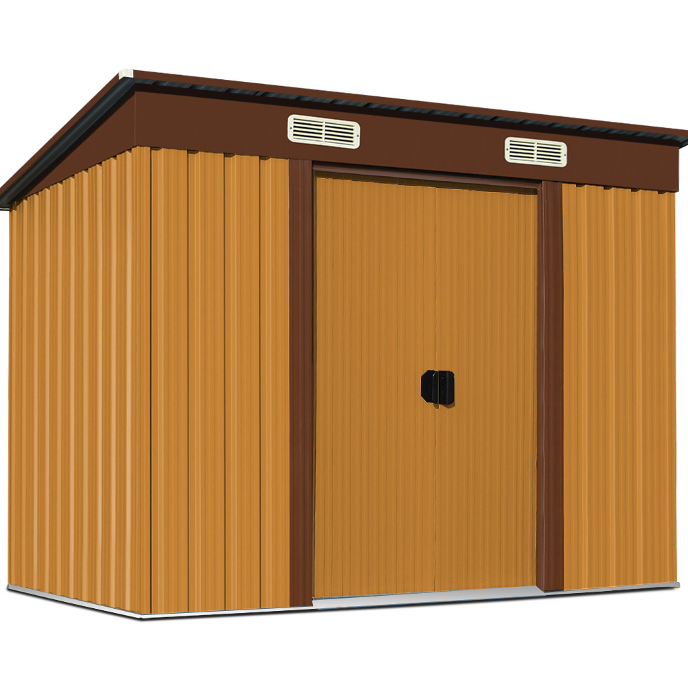 Garden tool shed metal 6x4ft outdoor storage house utility for Outdoor tool shed