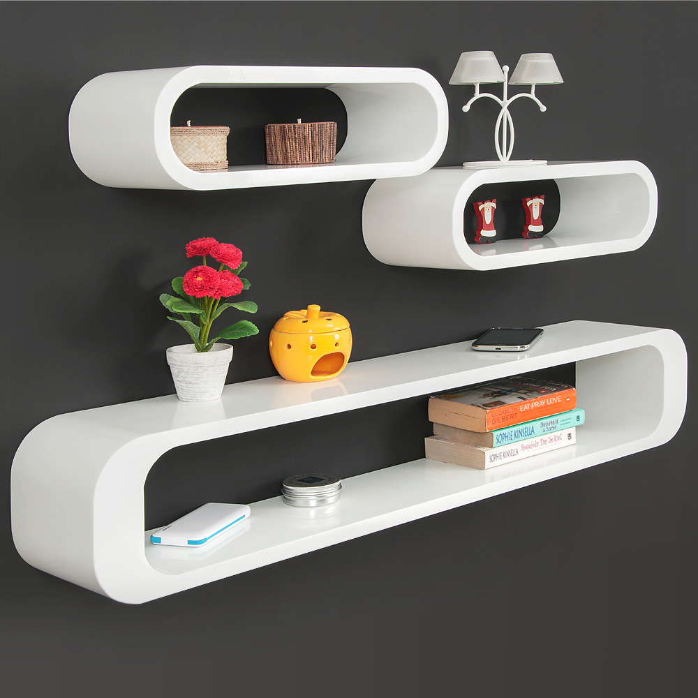 3er set wandregal cube regal h ngeregal b cherregal. Black Bedroom Furniture Sets. Home Design Ideas