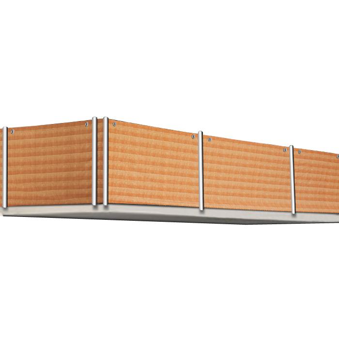 balcony screen privacy fence panel terrace cover windscreen canvas 500x90cm ebay. Black Bedroom Furniture Sets. Home Design Ideas