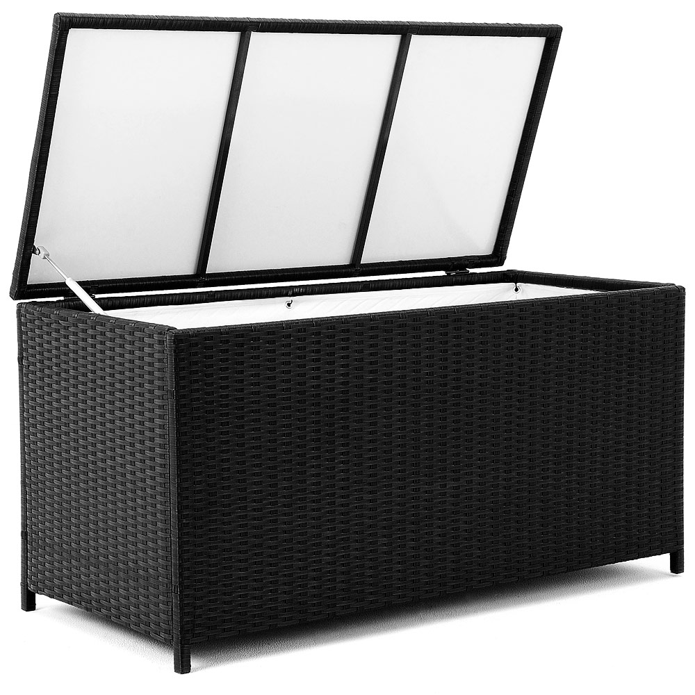 rattan auflagenbox gartenbox gartentruhe kissenbox truhe box auflagen polyrattan ebay. Black Bedroom Furniture Sets. Home Design Ideas