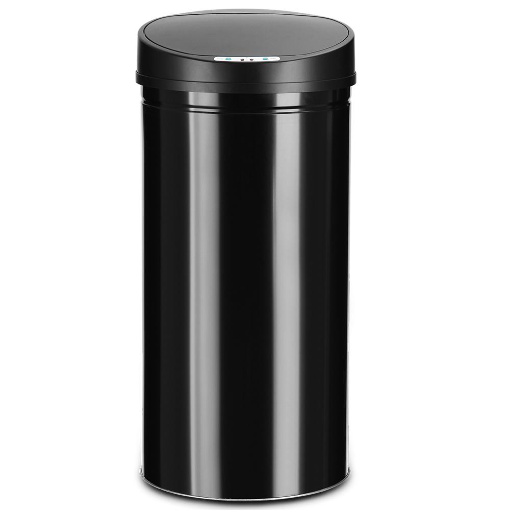 Poubelle automatique poubelle capteur poubelle inox de cuisine poubelle 56 l ebay for Poubelle cuisine inox