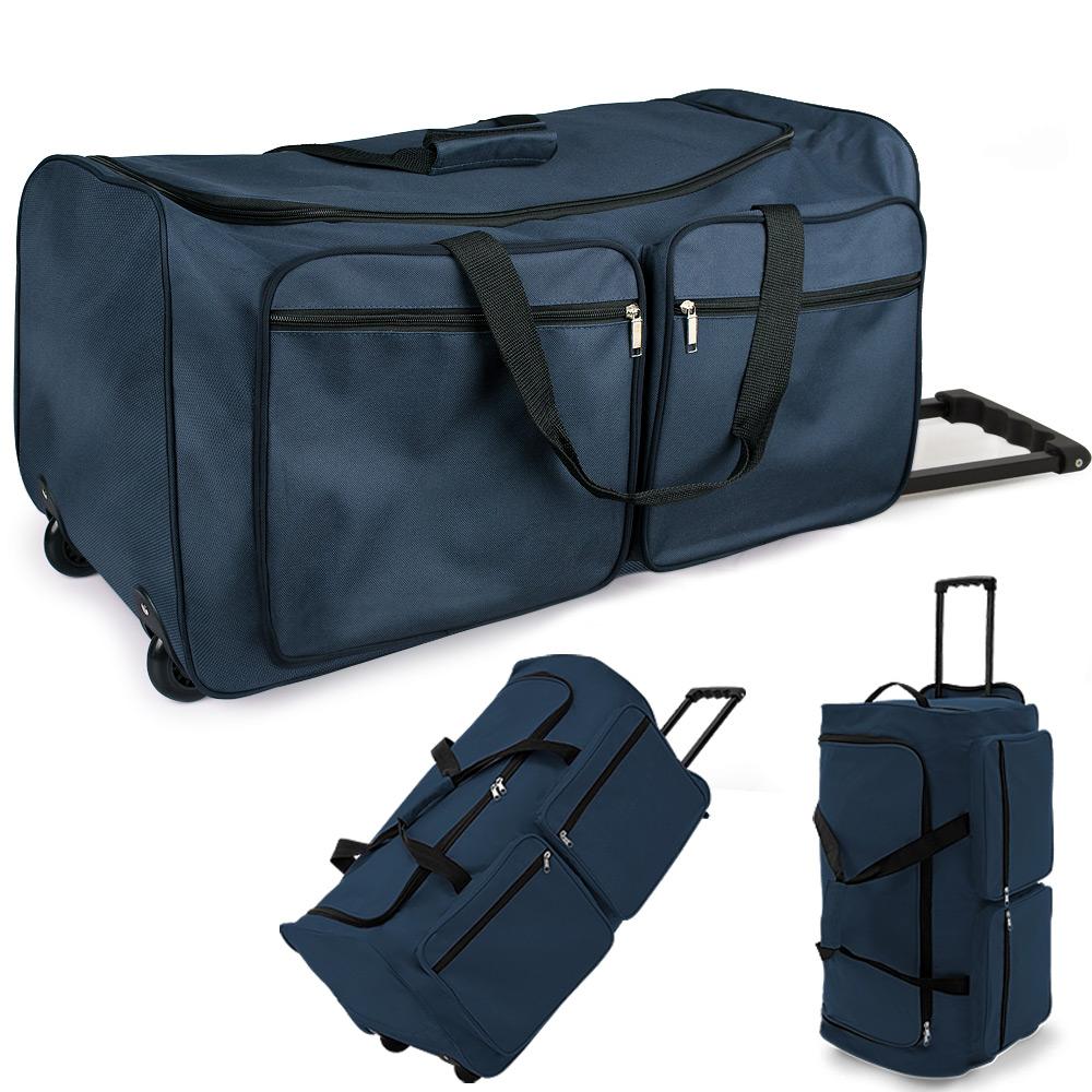 reisetasche 100 l trolley 2 rollen sporttasche reisetrolley reisekoffer 3 farben ebay. Black Bedroom Furniture Sets. Home Design Ideas