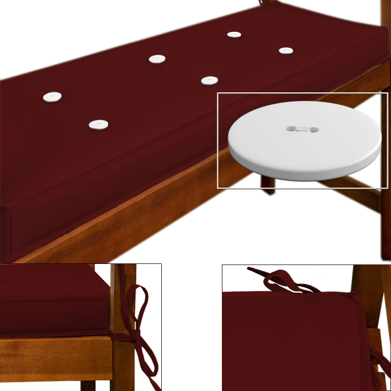 banc 110 cm coussin d 39 assise coussin d 39 assise coussin d 39 assise banc de jardin tirage blanc rouge. Black Bedroom Furniture Sets. Home Design Ideas