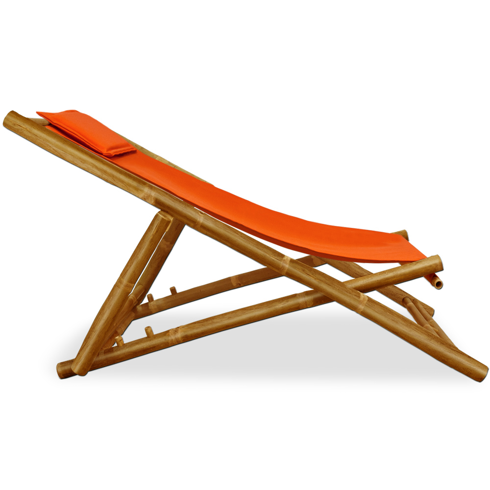 Wooden Folding Deck Chairs Bamboo Garden Deckchair Furniture Cushion Wood Cha