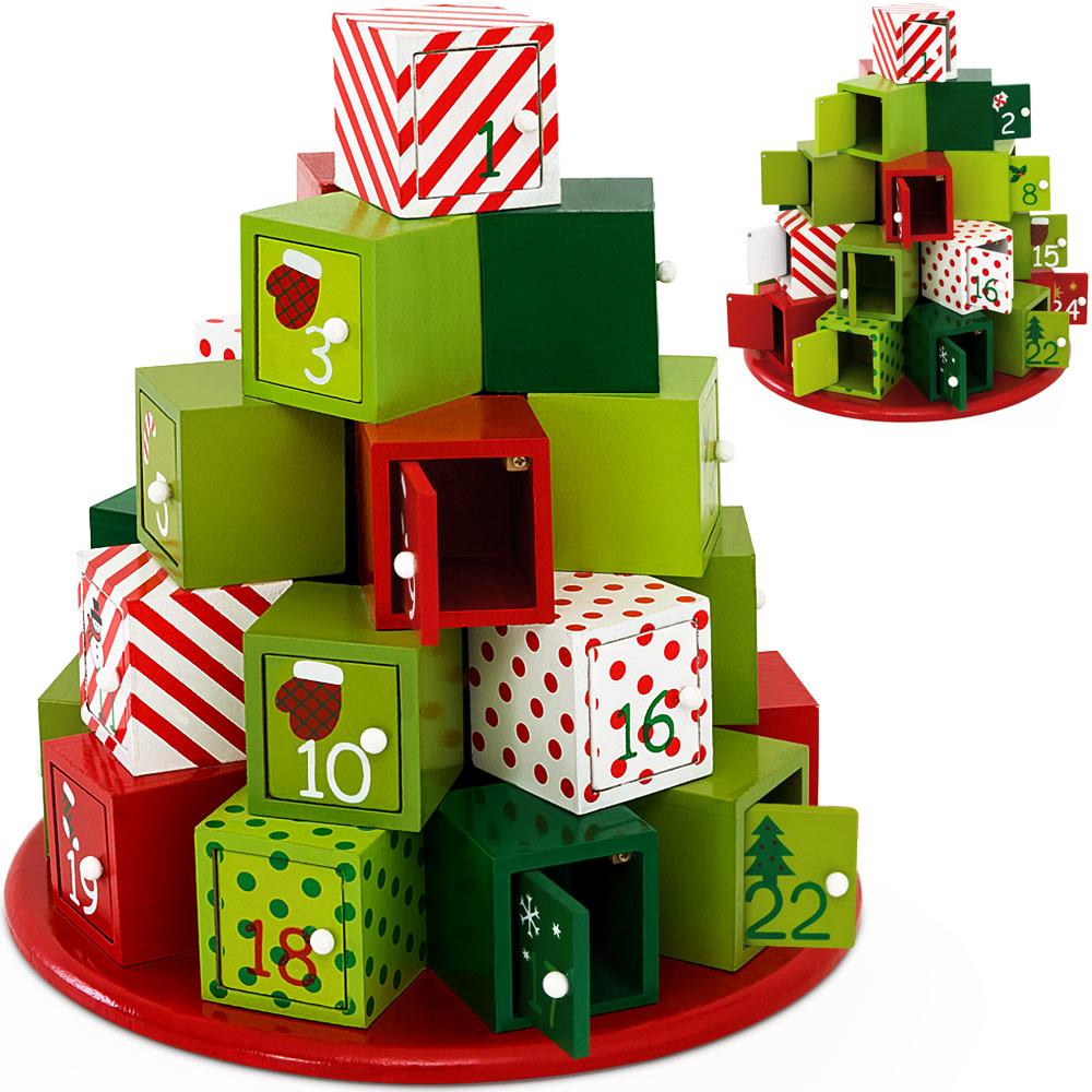 Diy Reusable Advent Calendar : Advent calendar christmas decoration wood reusable