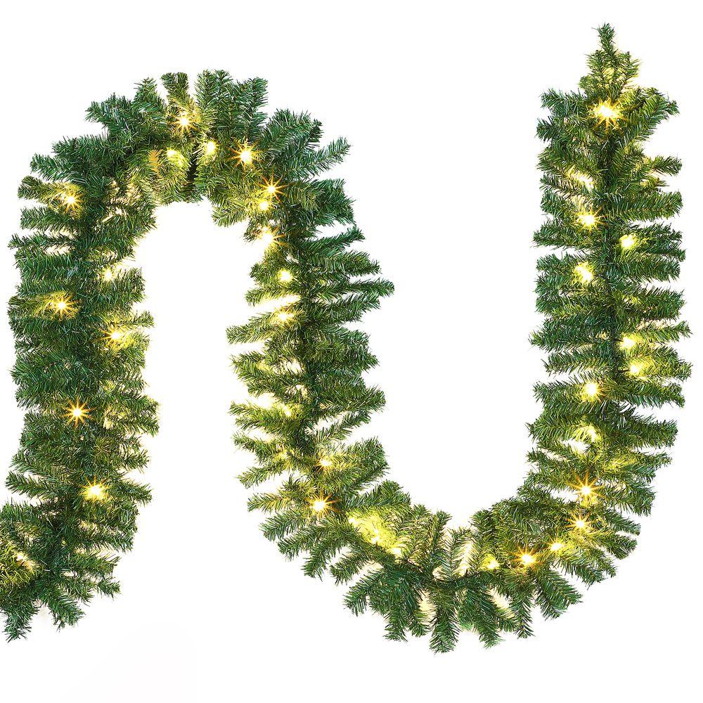 weihnachtsgirlande 5m girlande lichterkette tannengirlande deko weihnacht licht ebay. Black Bedroom Furniture Sets. Home Design Ideas