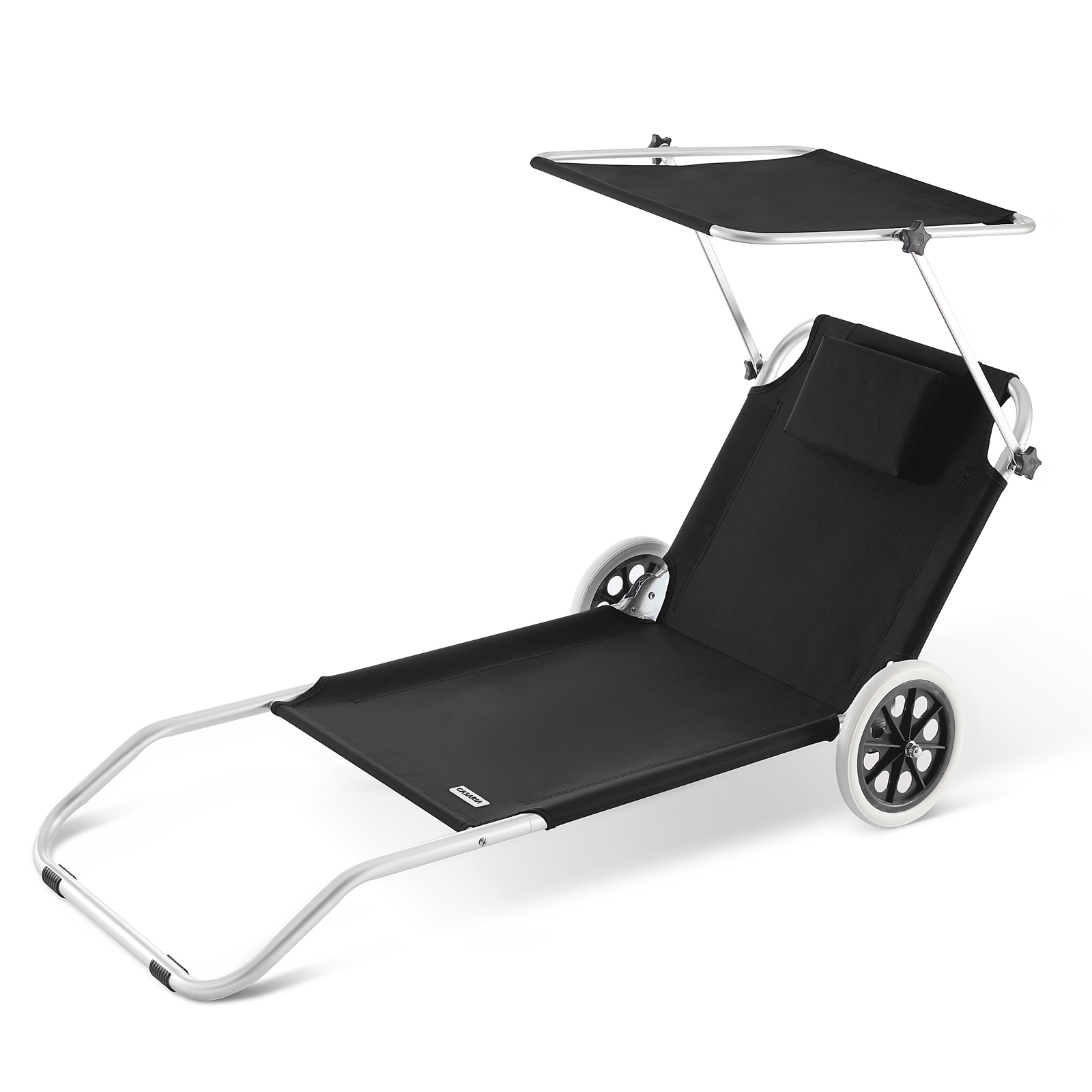 Chaise longue cr te bain de soleil plage en aluminium for Chaise longue de plage pliable