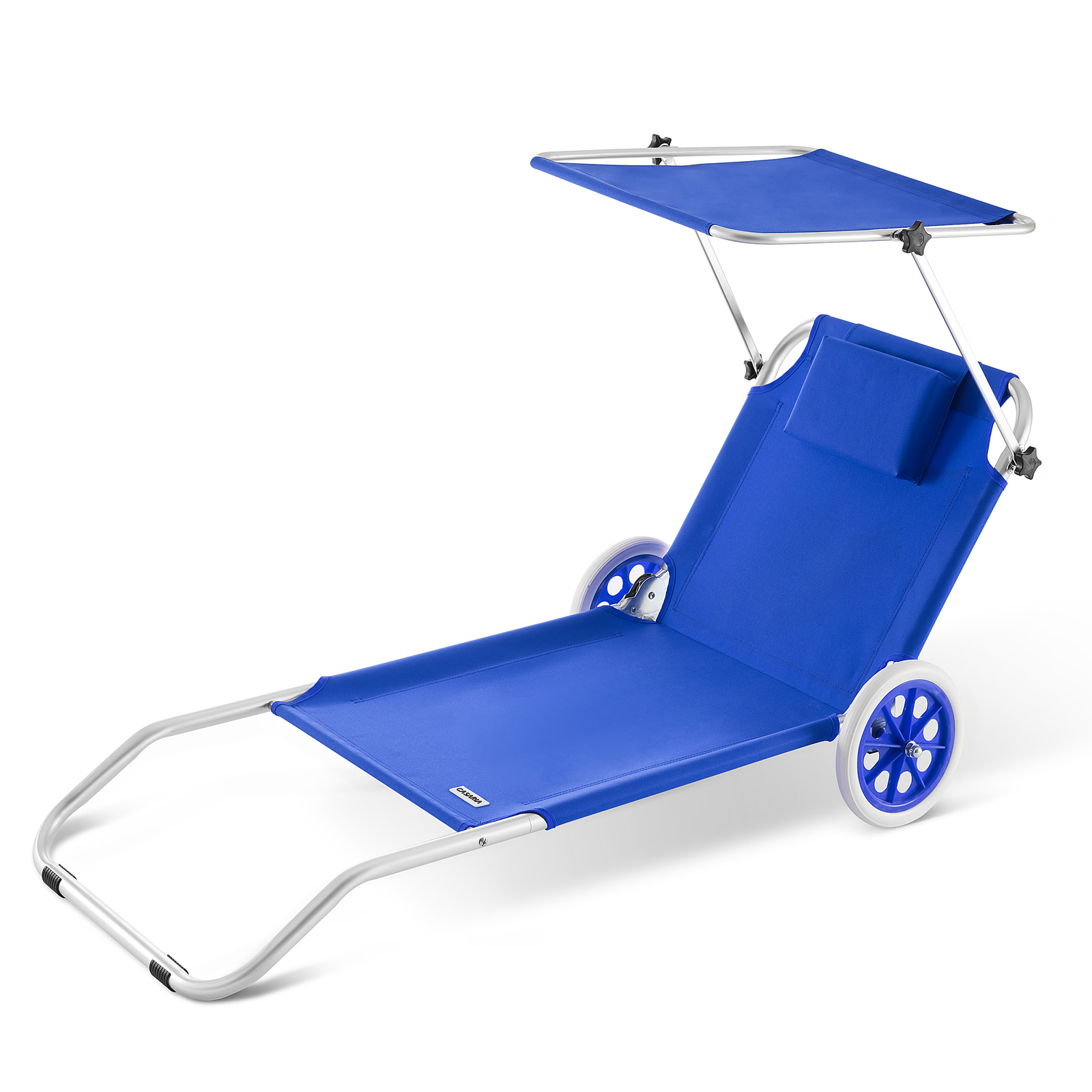 Chaise longue cr te bain de soleil plage en aluminium for Chaise longue de plage