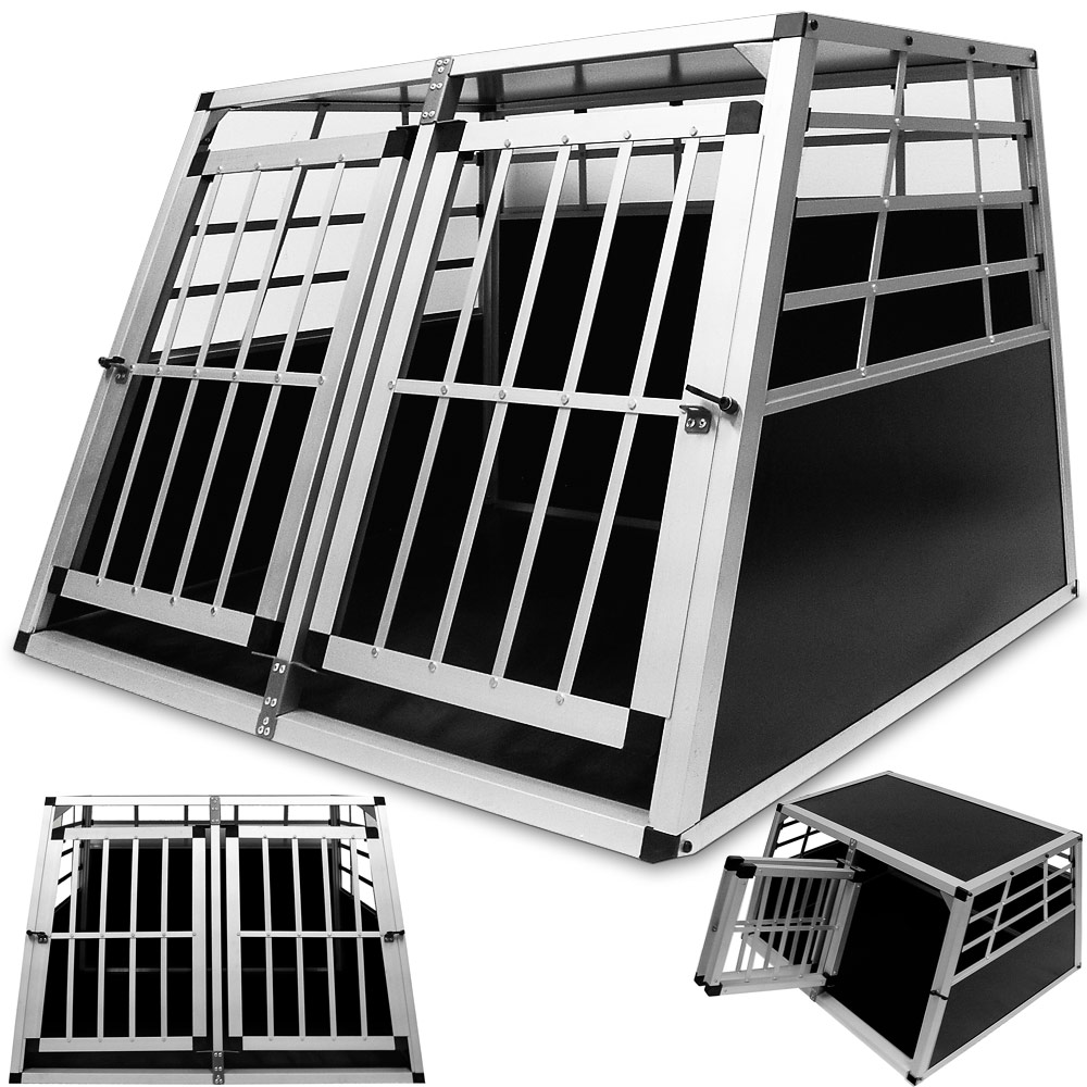 caisse pour chien chien cage bo te de transport alu box. Black Bedroom Furniture Sets. Home Design Ideas