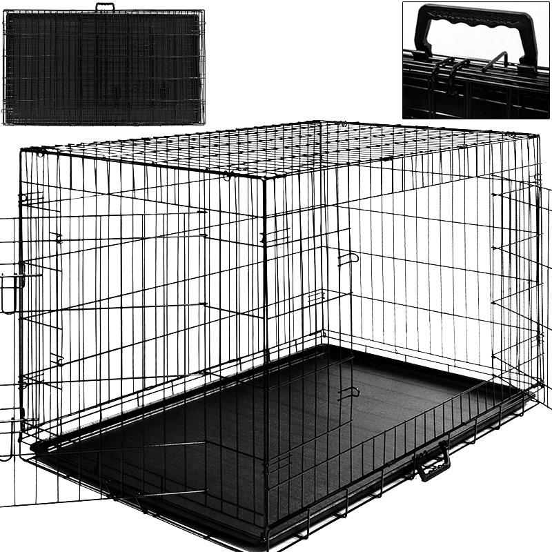 cage boite de transport pour chien cage animaux tailles xxl xl s au choix. Black Bedroom Furniture Sets. Home Design Ideas