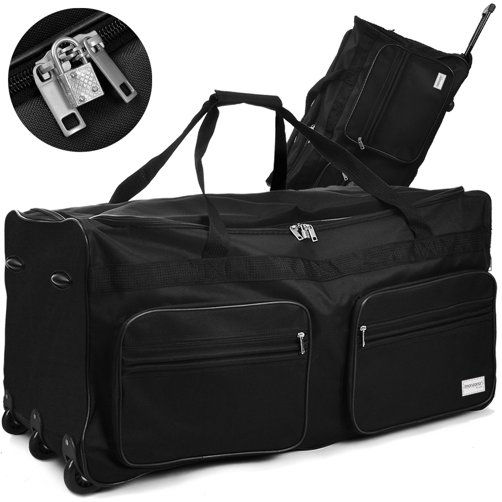 grand sac de voyage xxl trolley 160l avec 2 roulettes et cadenas 4 couleurs ebay. Black Bedroom Furniture Sets. Home Design Ideas