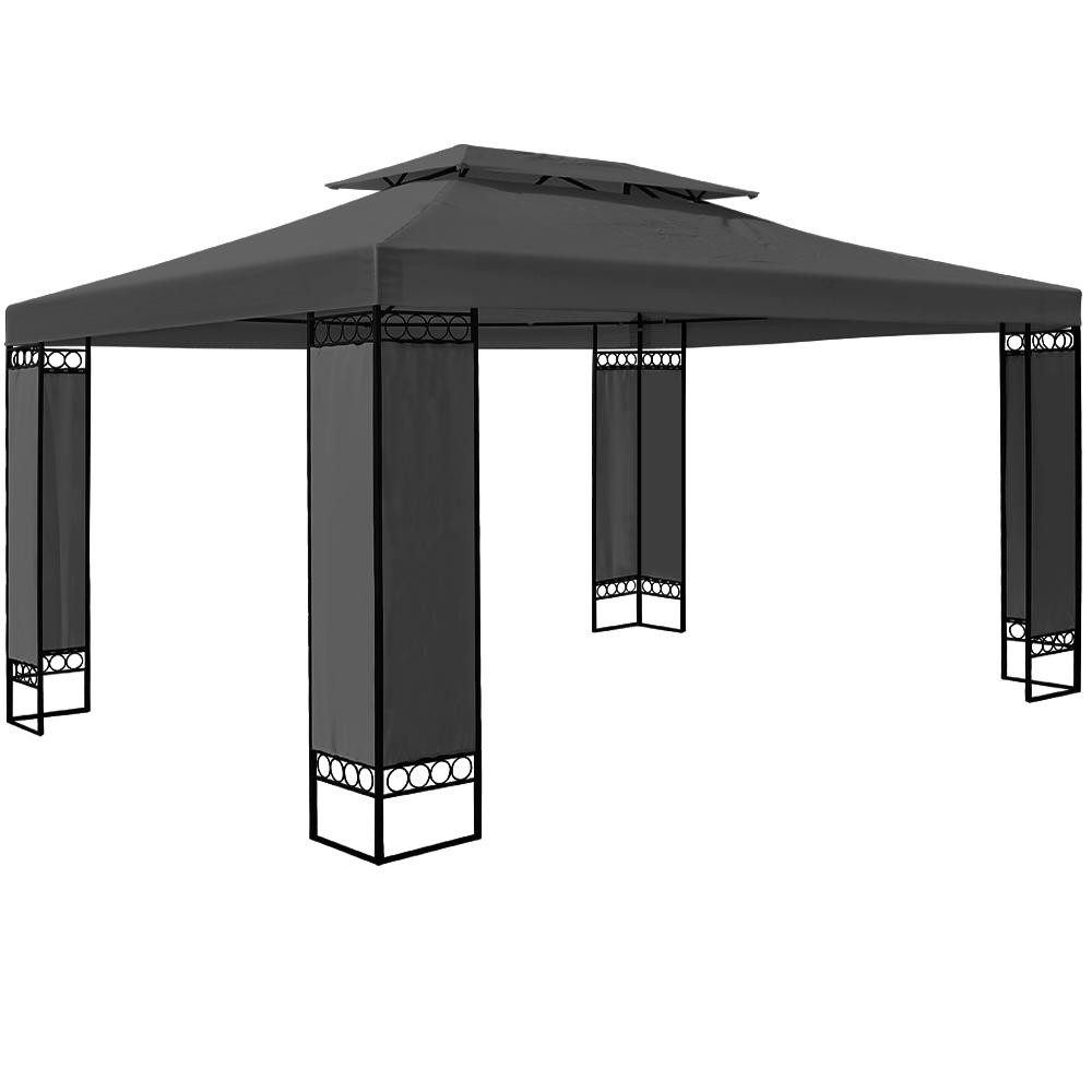 Garden marquee 3x4m elda gazebo pavilion canopy terrace 5 for Terrace gazebo