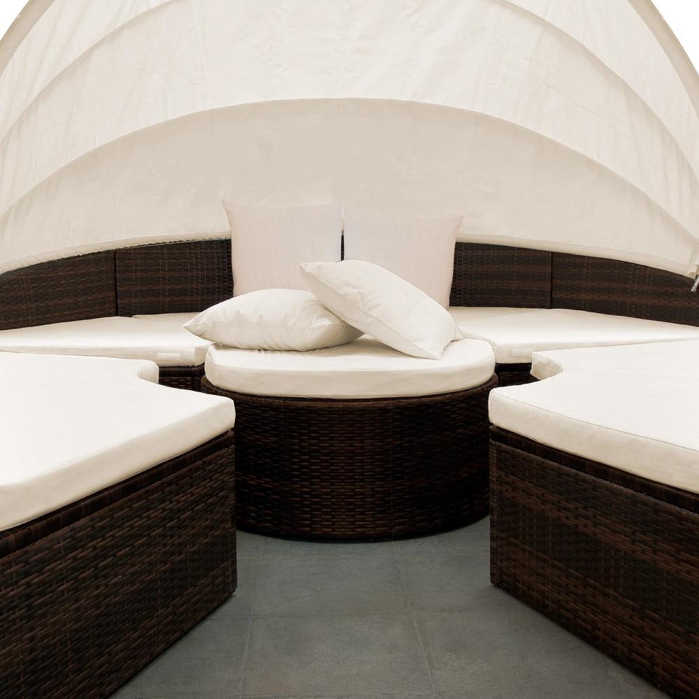 sonneninsel gartenm bel polyrattan sitzgarnitur. Black Bedroom Furniture Sets. Home Design Ideas