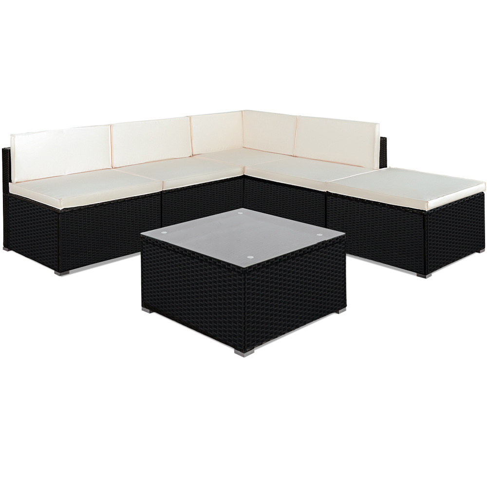 poly rattan garden sofa lounge outdoor furniture table. Black Bedroom Furniture Sets. Home Design Ideas
